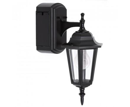 Reversible Wall Lantern With Built In Electrical Outlet