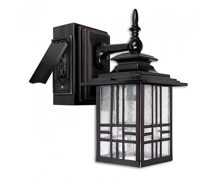 13 Mission Style Wall Lantern With Built In Electrical